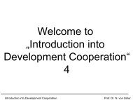 "Welcome to ""Introduction into Development Cooperation"" 4"