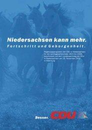 Wahlprogramm der CDU - Technische Informatik