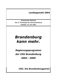 Wahlprogramm der CDU