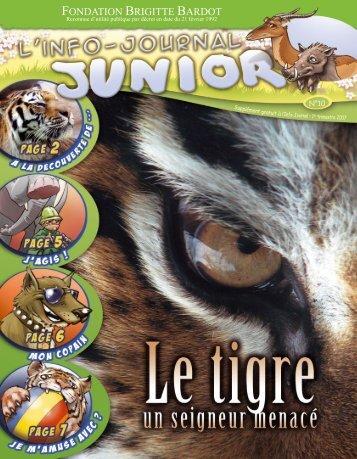 Le Tigre - Site Junior - Fondation Brigitte Bardot