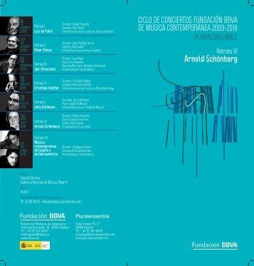 Arnold Schönberg - Fundación BBVA