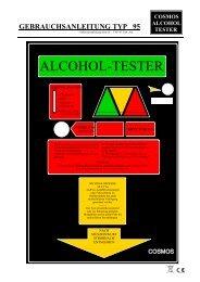 GEBRAUCHSANLEITUNG TYP 95 - Cosmos-Alkoholtester Gmbh