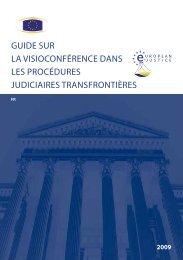 guide sur la visioconférence dans les procédures judiciaires ...