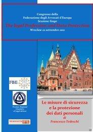The legal Profession and Data Protection Le misure di sicurezza e la ...