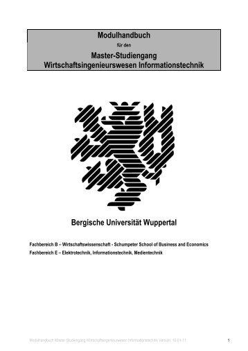 Modulhandbuch - Fachbereich E - Bergische Universität Wuppertal