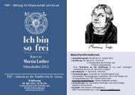 FBF – Stiftung für Wissenschaft und Kunst FBF – Galerie an der ...