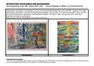 Texte und Bezüge zu Bildern von Christa Schmidt in der FBF ...