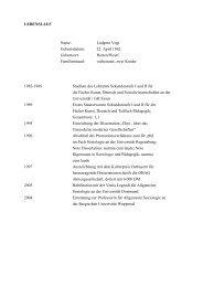 Curriculum Vitae - BERGISCHE UNIVERSITÄT WUPPERTAL