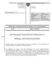 Fachschaftssatzung - BERGISCHE UNIVERSITÄT WUPPERTAL