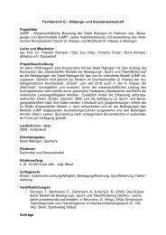 JUMP - Wissenschaftliche Beratung der Stadt Ratingen im Rahmen