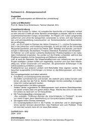 LinE - Europakompetenz als Merkmal der Lehrerbildung
