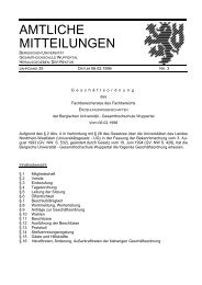Geschäftsordnung FB 03 von 1996 (pdf-Datei, 32 - BERGISCHE ...