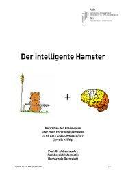 Der intelligente Hamster - Fachbereich Informatik - Hochschule ...