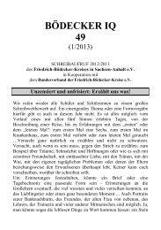 49 (1-2013) - des Friedrich-Bödecker-Kreises in Sachsen-Anhalt eV