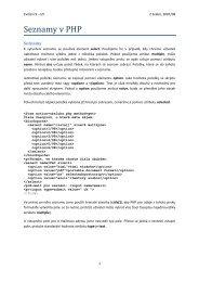 Seznamy v PHP - FBMI