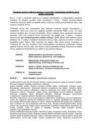 Tematické okruhy k odborné zkoušce v rámci SZZ v ... - FBMI
