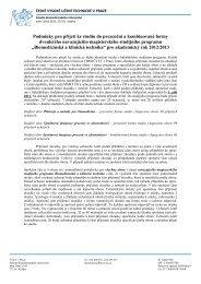 Biomedicínská a klinická technika - FBMI