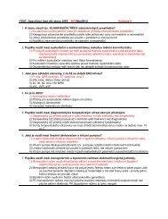Přijímací testy pro Mgr. stud. obor Systémová integrace ... - FBMI