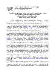 Podmínky pro přijetí ke studiu do prezenční a kombinované ... - FBMI