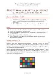 Praktické úlohy a principy kalibrace - FBMI