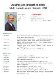Charakteristika a program kandidáta - FBMI