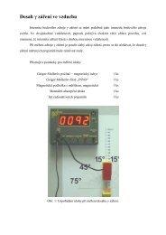 Dosah γ záření ve vzduchu - FBMI
