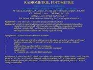 RADIOMETRIE, FOTOMETRIE - FBMI
