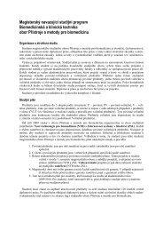 Magisterský navazující studijní program Biomedicínská a ... - FBMI