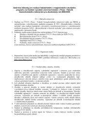 Směrnice děkanky pro realizaci bakalářského a ... - FBMI