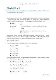Materiály k 3. přednášce: Inverzní úloha kinematiky, Jacobián - FBMI