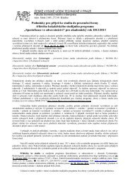 Specializace ve zdravotnictví - FBMI
