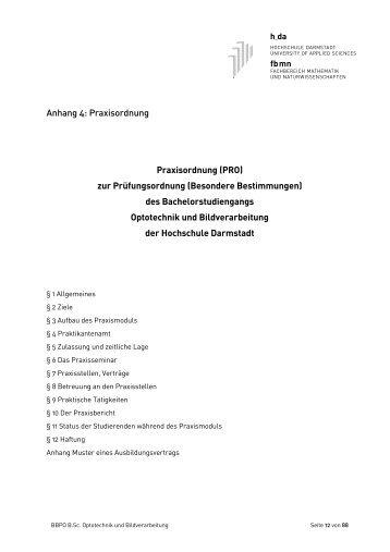 BBPO OBV BA - Fachbereich Mathematik und Naturwissenschaften ...