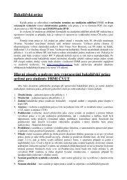 Hlavní zásady a pokyny pro vypracování bakalářské práce ... - FBMI