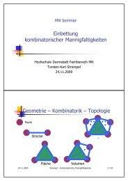n - Fachbereich Mathematik und Naturwissenschaften - Hochschule ...