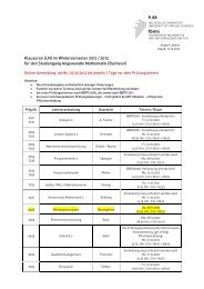 Klausuren (LN) im Wintersemester 2012 / 2013 für den Studiengang ...