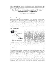 Der Einfluss der Lichtquellengeometrie auf die Entfer ...