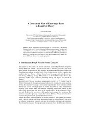 A Conceptual View of Knowledge Bases in Rough Set Theory