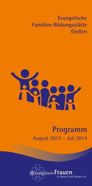 Programmheft 2013/2014 - Familien-Bildungsstätte Giessen