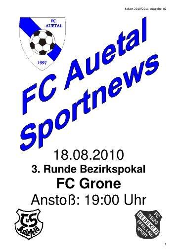 Stadionzeitung vom Pokalspiel 18.08.10 - FC Auetal