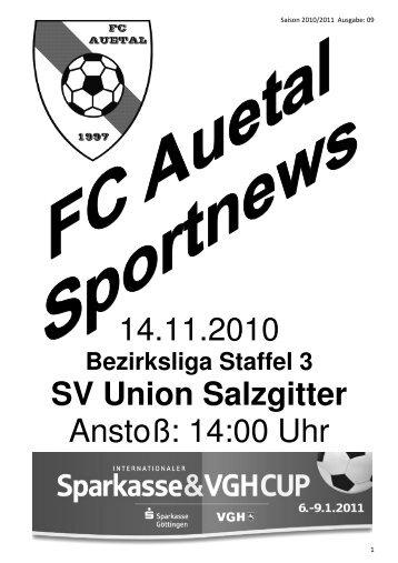 Stadionzeitung vom 13.02.11 - FC Auetal
