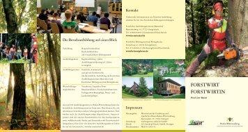 pdF-Datei Flyer Forstwirt - Forstliches Bildungszentrum Königsbronn