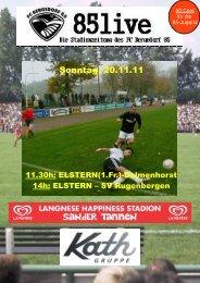 Sonntag, 20. November 2011 Elstern - FC Bergedorf 85
