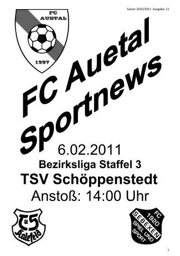 Stadionzeitung vom 06.02.11 - FC Auetal