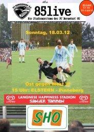 Ost gegen West !!! 15 Uhr: ELSTERN - Pinneberg ... - FC Bergedorf 85