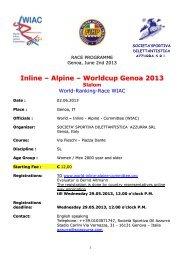 Inline – Alpine – Worldcup Genoa 2013 Slalom - World Inline Alpine ...