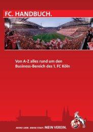 Business Handbuch Final DIN A5.indd - 1. FC Köln