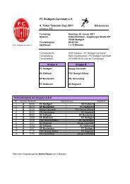 FC Stuttgart-Cannstatt e.V. 4. Toker Telecom Cup 2011