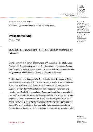Pressemitteilung - FC Stuttgart
