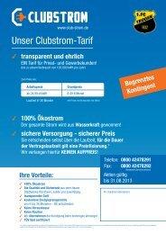 Unser Clubstrom-Tarif - FC Trogen