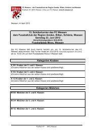 13. Schülerturnier des FC Weesen dem Fussballclub der Region ...